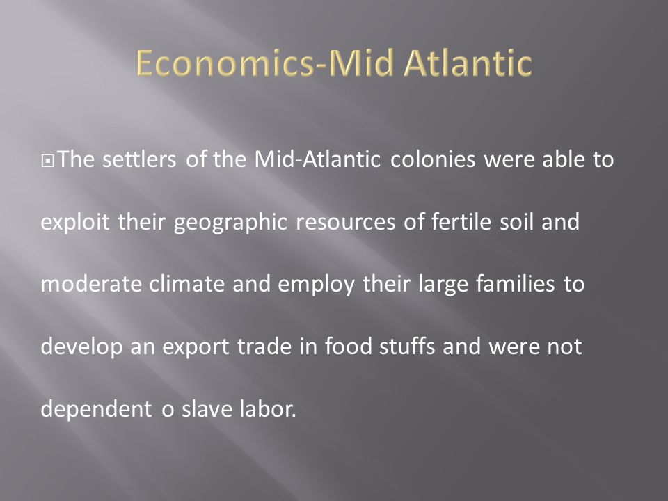 Economics-Mid Atlantic