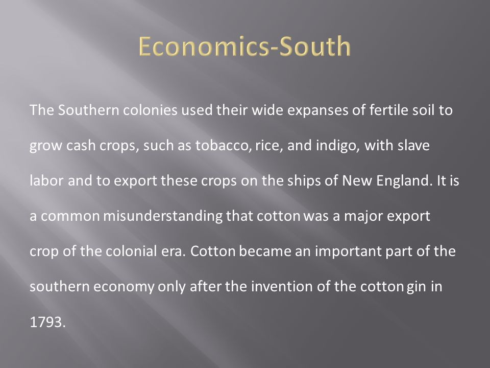 Economics-South