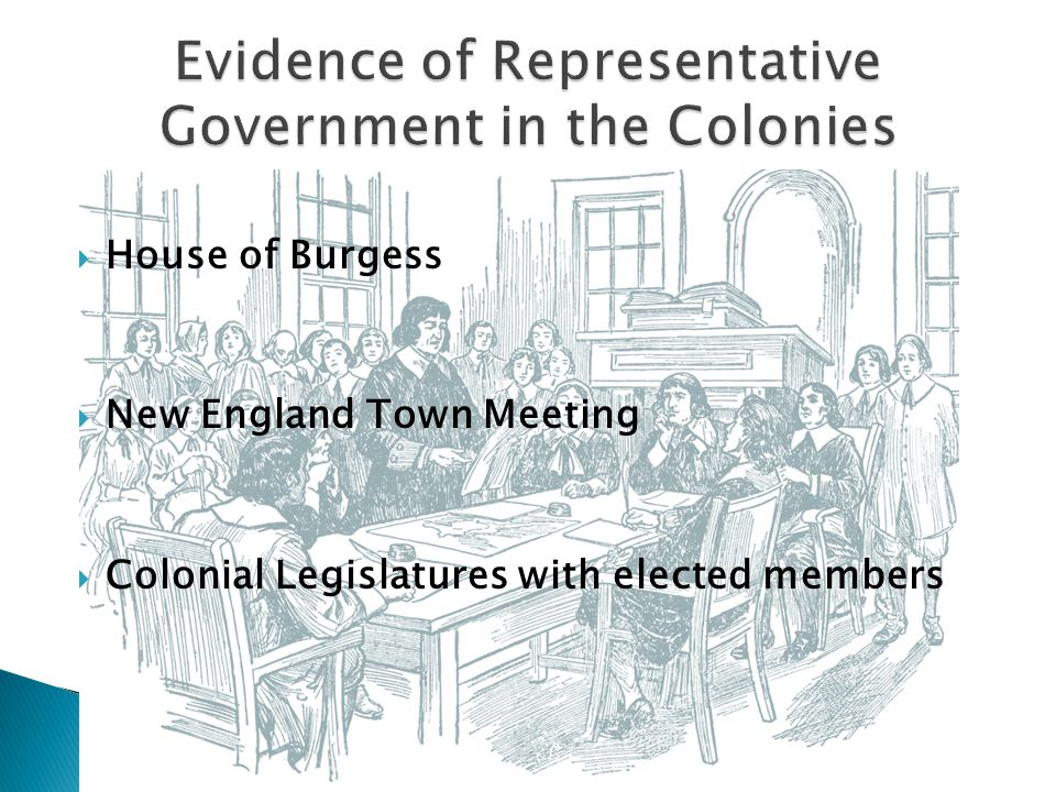 Evidence of Representative Government in the Colonies