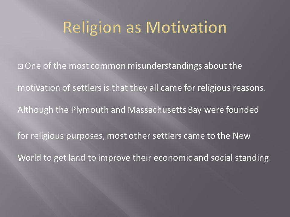 Religion as Motivation