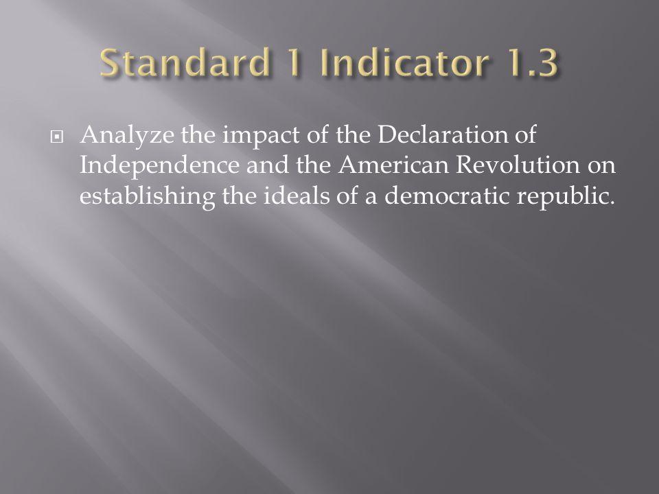 Standard 1 Indicator 1.3