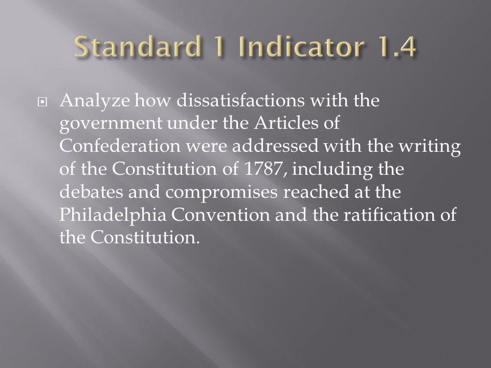 Standard 1 Indicator 1.4