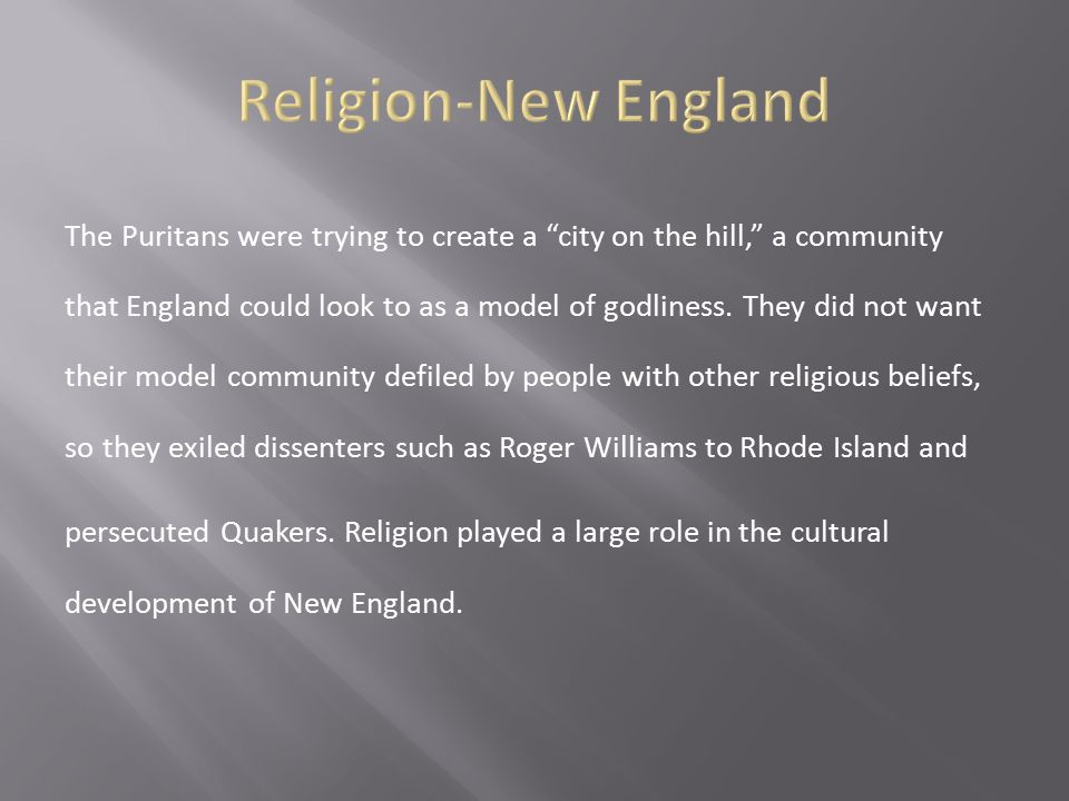 Religion-New England