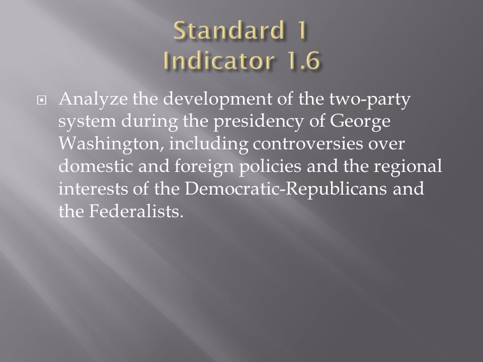 Standard 1 Indicator 1.6