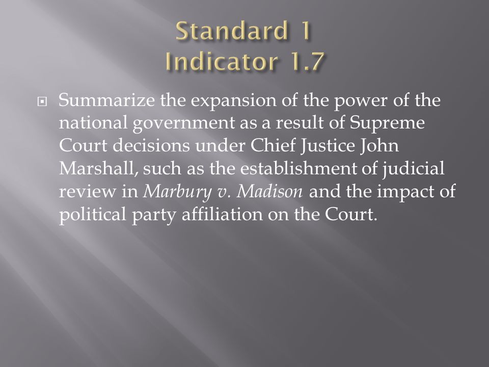 Standard 1 Indicator 1.7