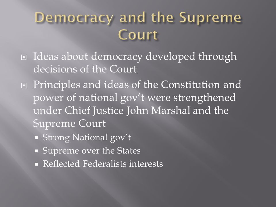 Democracy and the Supreme Court