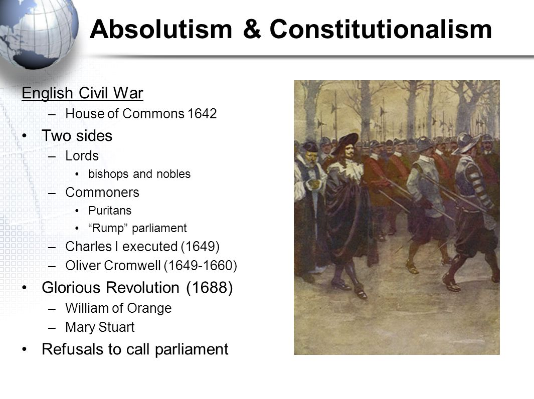 Absolutism & Constitutionalism