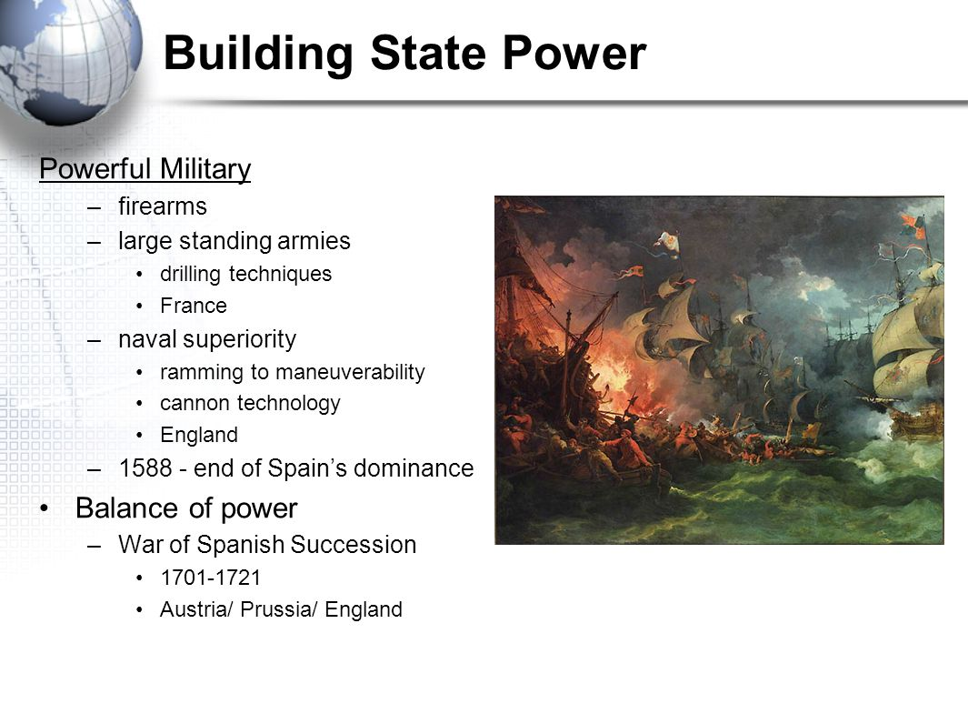 Building State Power Powerful Military Balance of power firearms