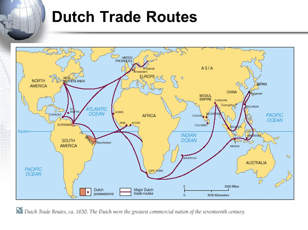 Dutch Trade Routes