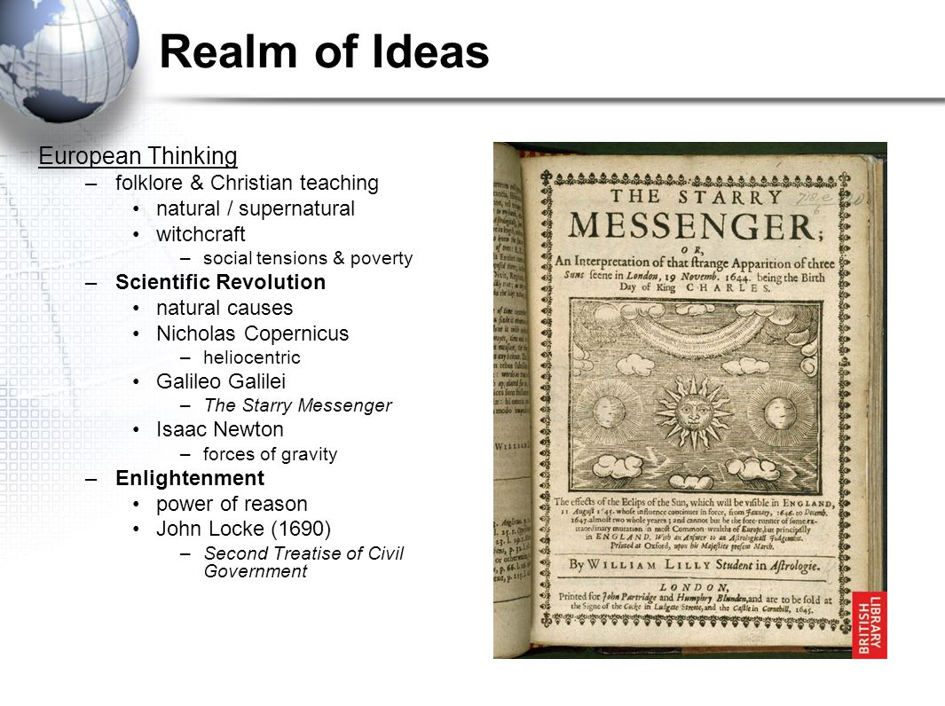 Realm of Ideas European Thinking folklore & Christian teaching