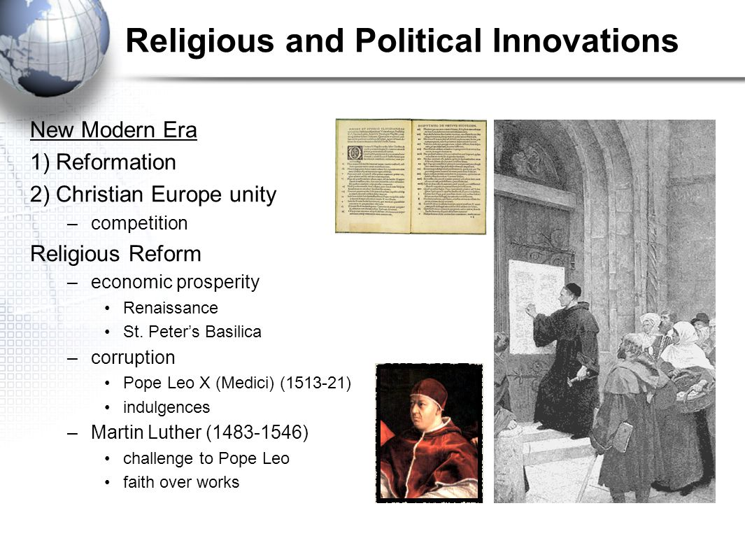 Religious and Political Innovations