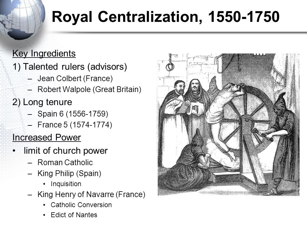 Royal Centralization, 1550-1750