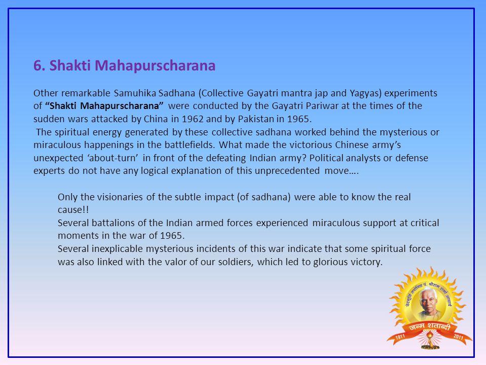 6. Shakti Mahapurscharana