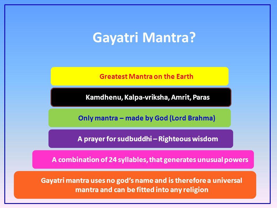 Gayatri Mantra Greatest Mantra on the Earth