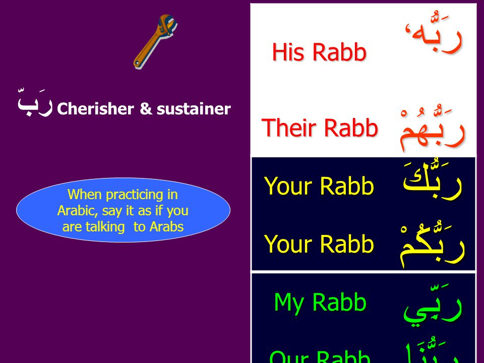 رَبّ Cherisher & sustainer