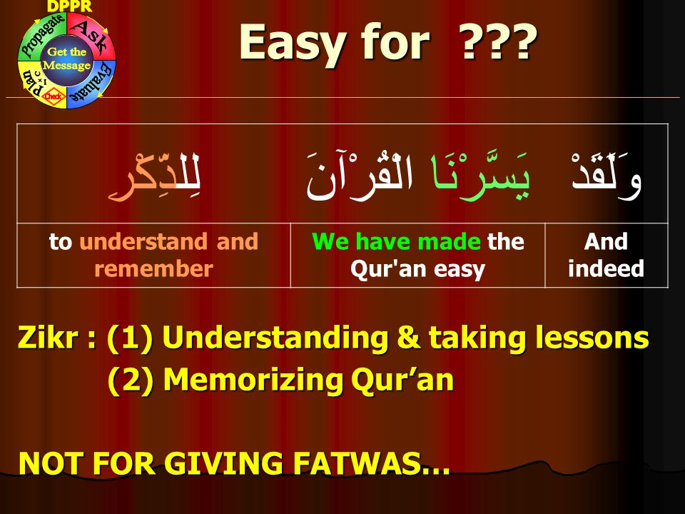 We have made the Qur an easy to understand and remember