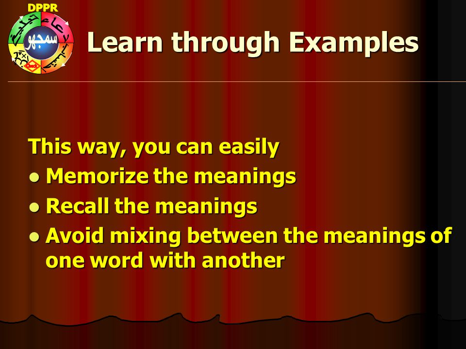 Learn through Examples