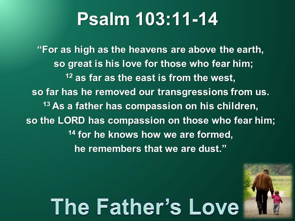 Psalm 103:11-14