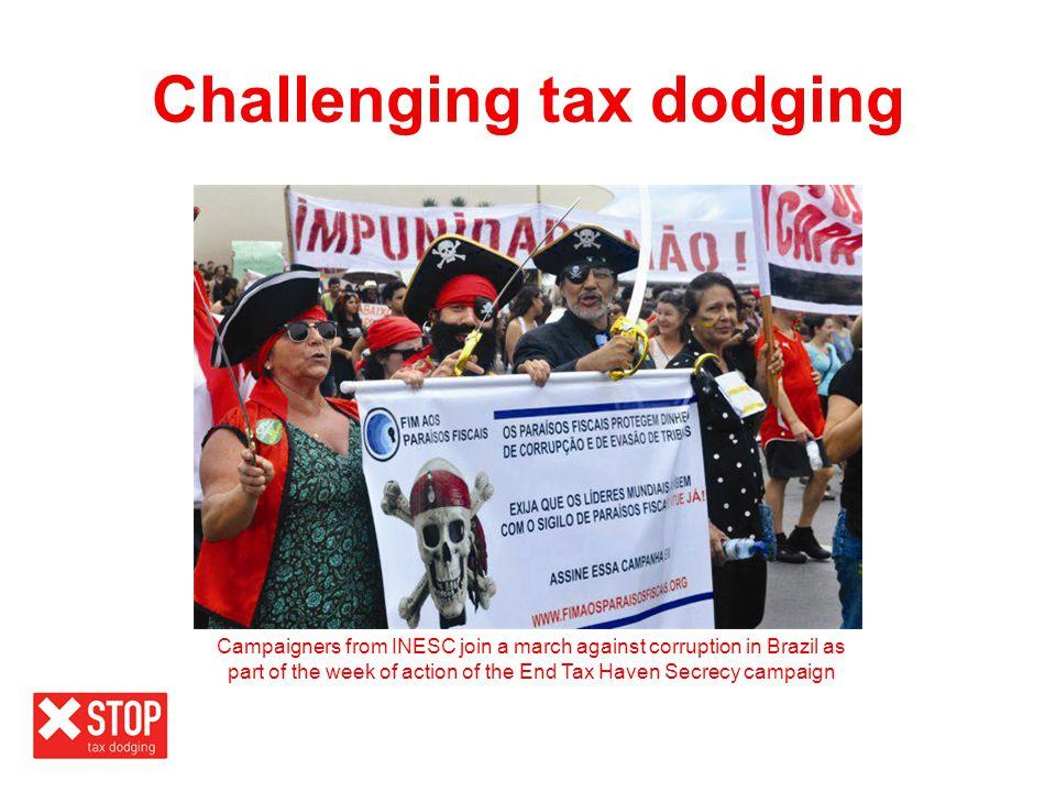 Challenging tax dodging