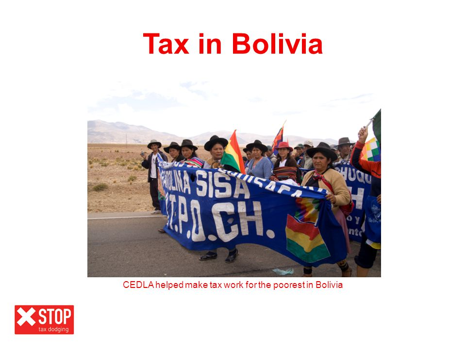 CEDLA helped make tax work for the poorest in Bolivia