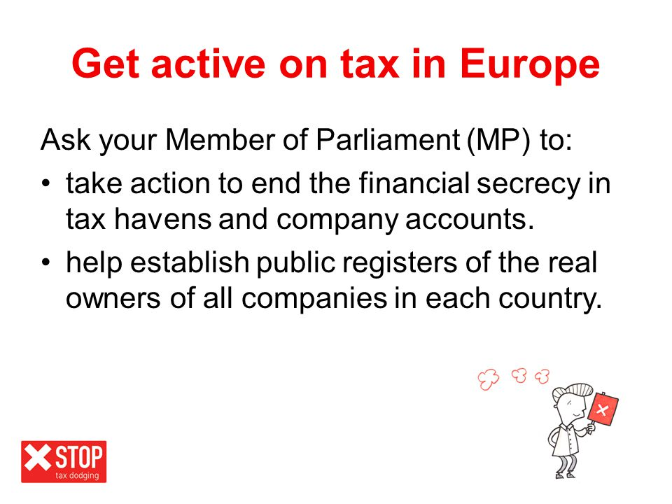 Get active on tax in Europe