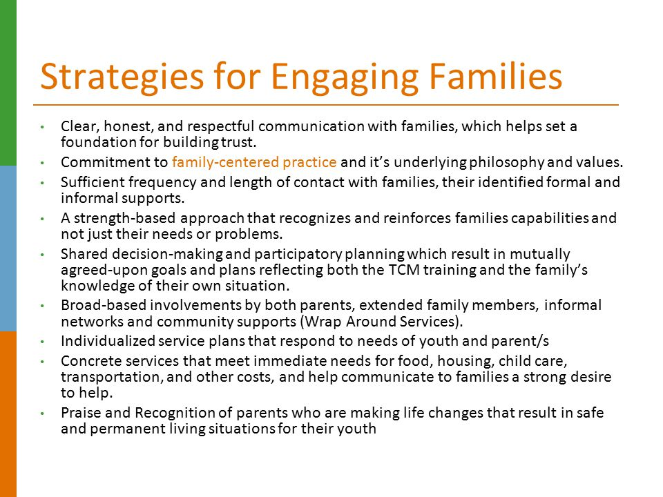 Strategies for Engaging Families