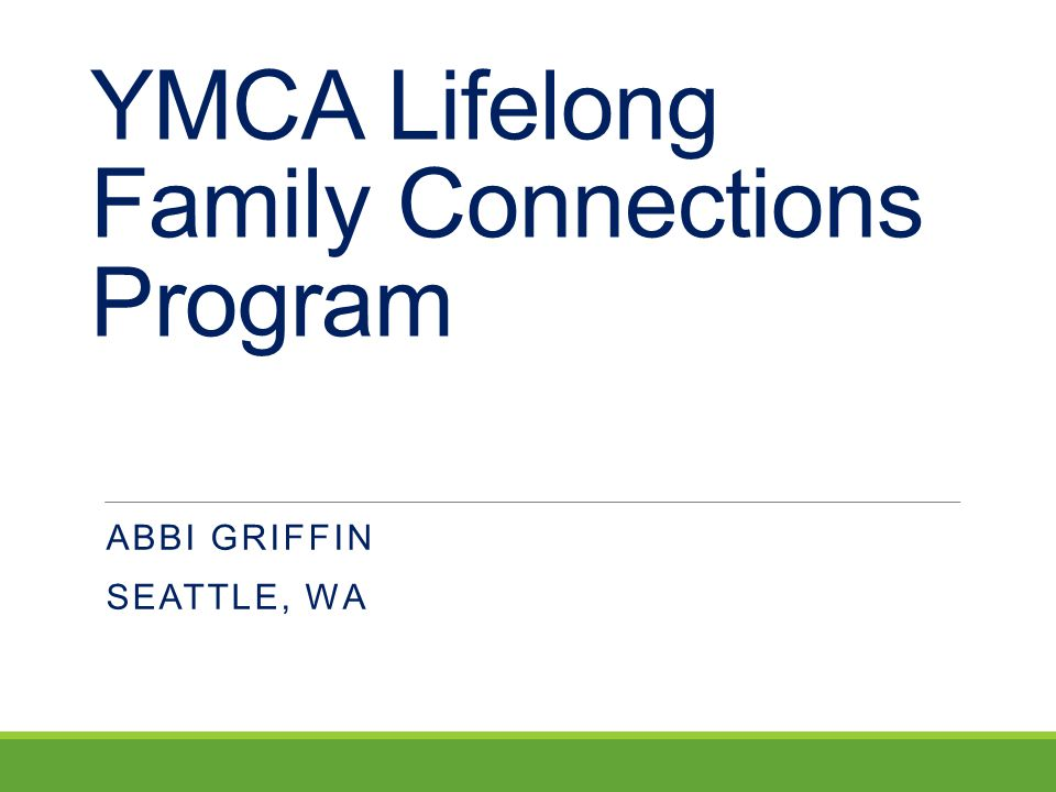 YMCA Lifelong Family Connections Program