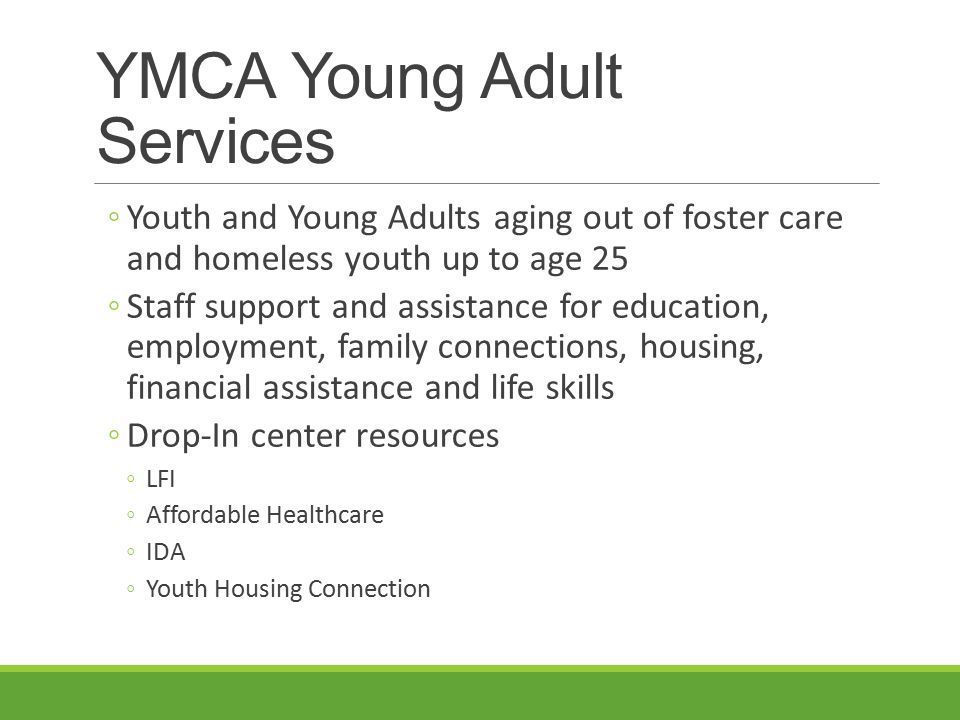 YMCA Young Adult Services