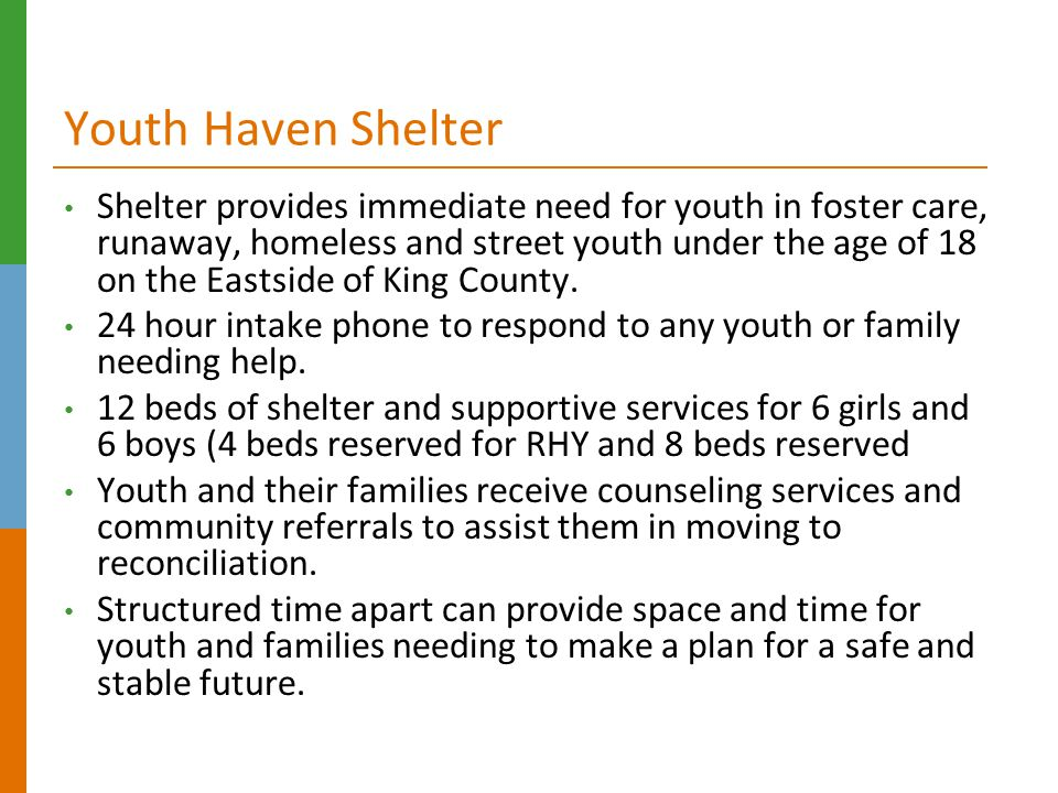 Youth Haven Shelter