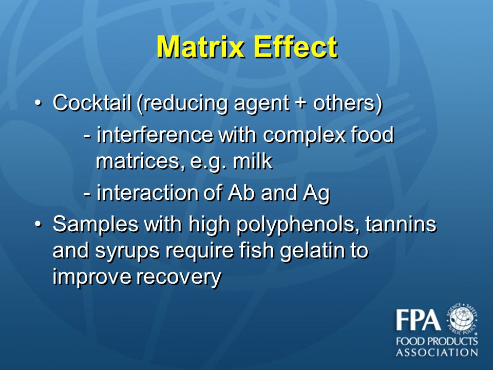 Matrix Effect Cocktail (reducing agent + others)