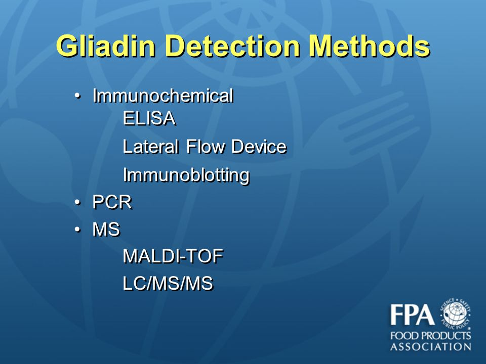 Gliadin Detection Methods