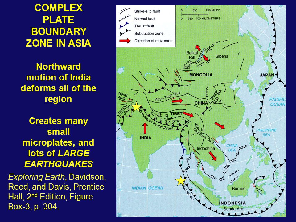 COMPLEX PLATE BOUNDARY ZONE IN ASIA
