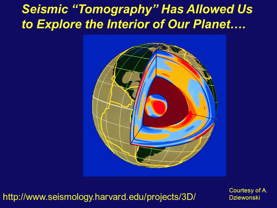 Seismic Tomography Has Allowed Us to Explore the Interior of Our Planet….