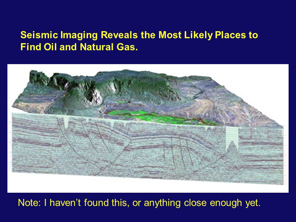 Seismic Imaging Reveals the Most Likely Places to Find Oil and Natural Gas.