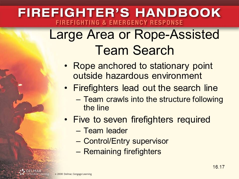 Large Area or Rope-Assisted Team Search