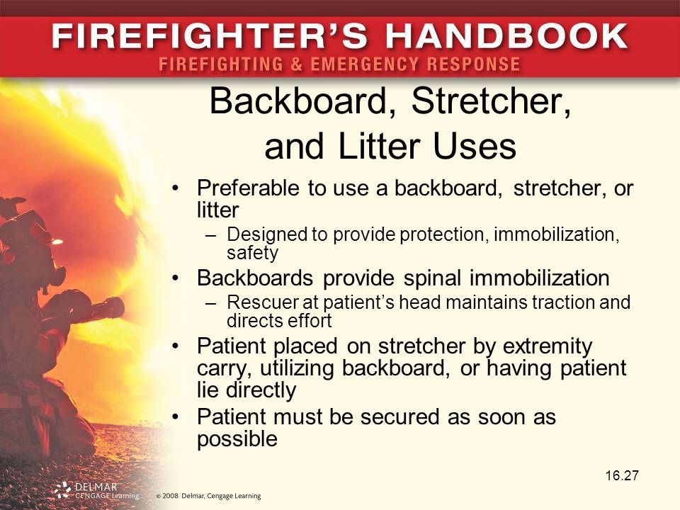 Backboard, Stretcher, and Litter Uses