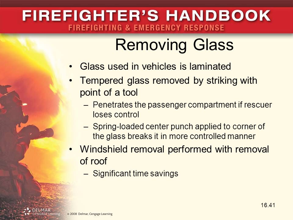 Removing Glass Glass used in vehicles is laminated