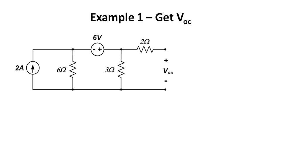 Example 1 – Get Voc
