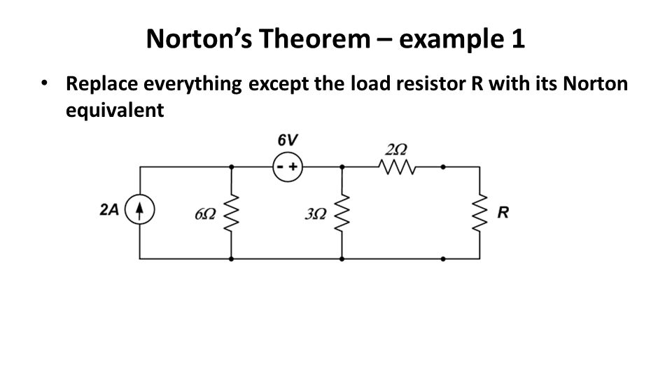 Norton's Theorem – example 1