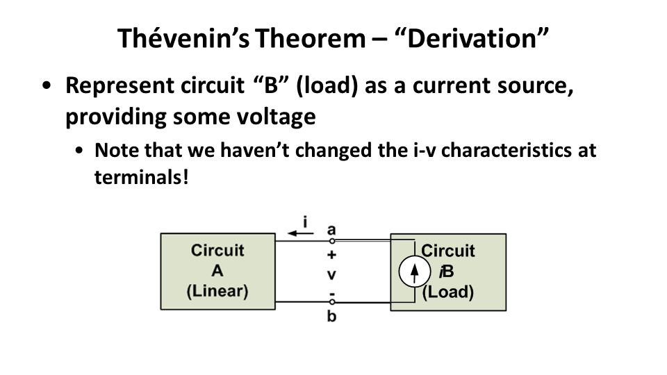 Thévenin's Theorem – Derivation