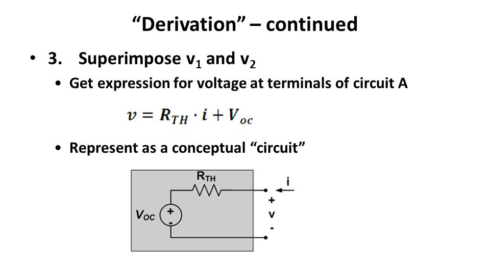 Derivation – continued