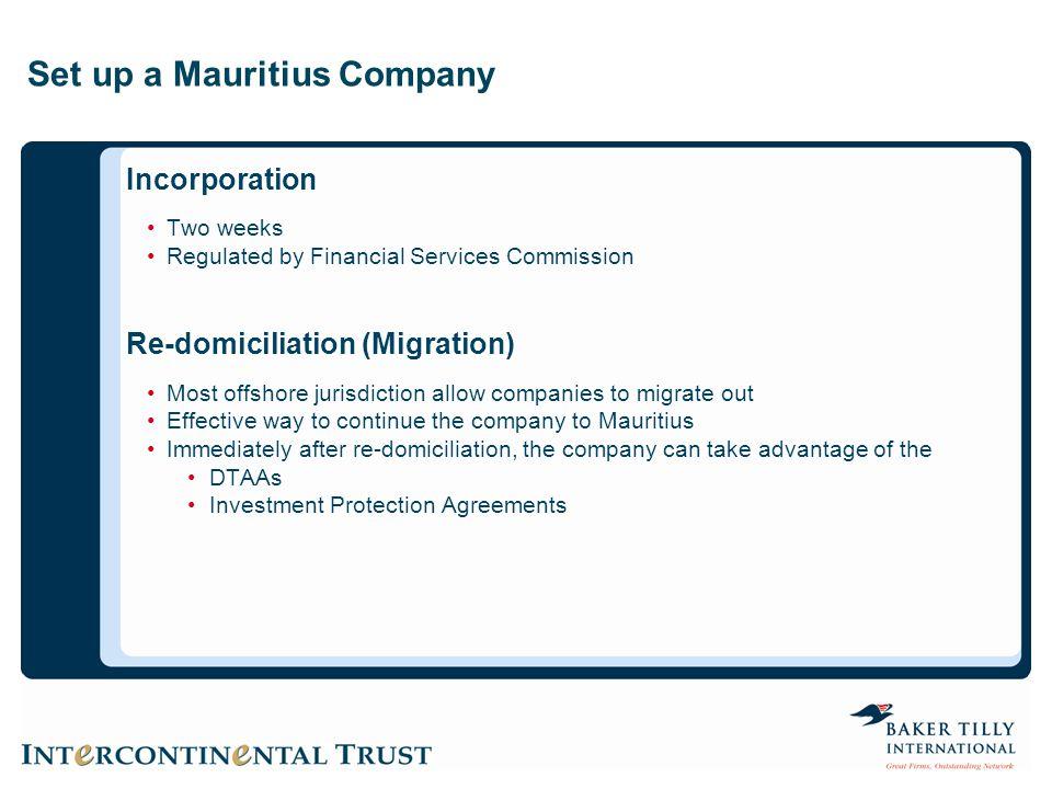Set up a Mauritius Company