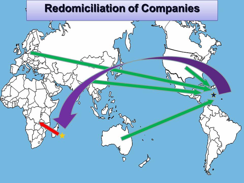 Redomiciliation of Companies