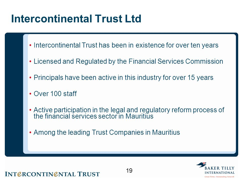 Intercontinental Trust Ltd