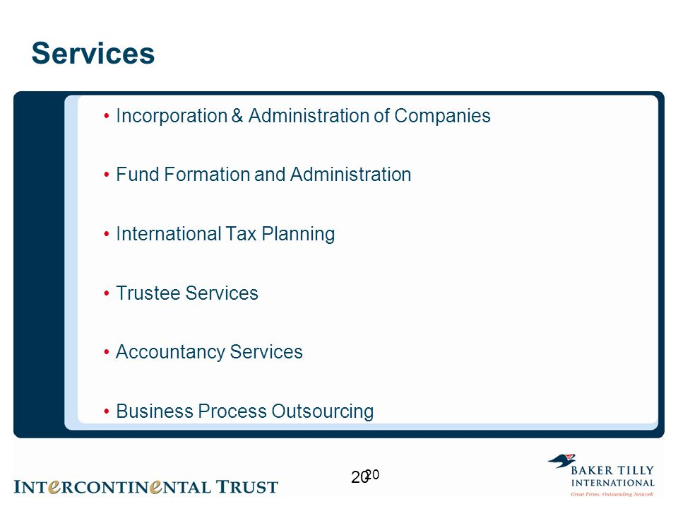 Services Incorporation & Administration of Companies