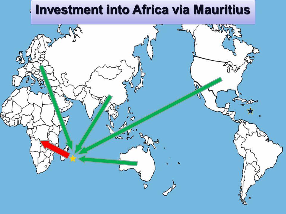 Investment into Africa via Mauritius