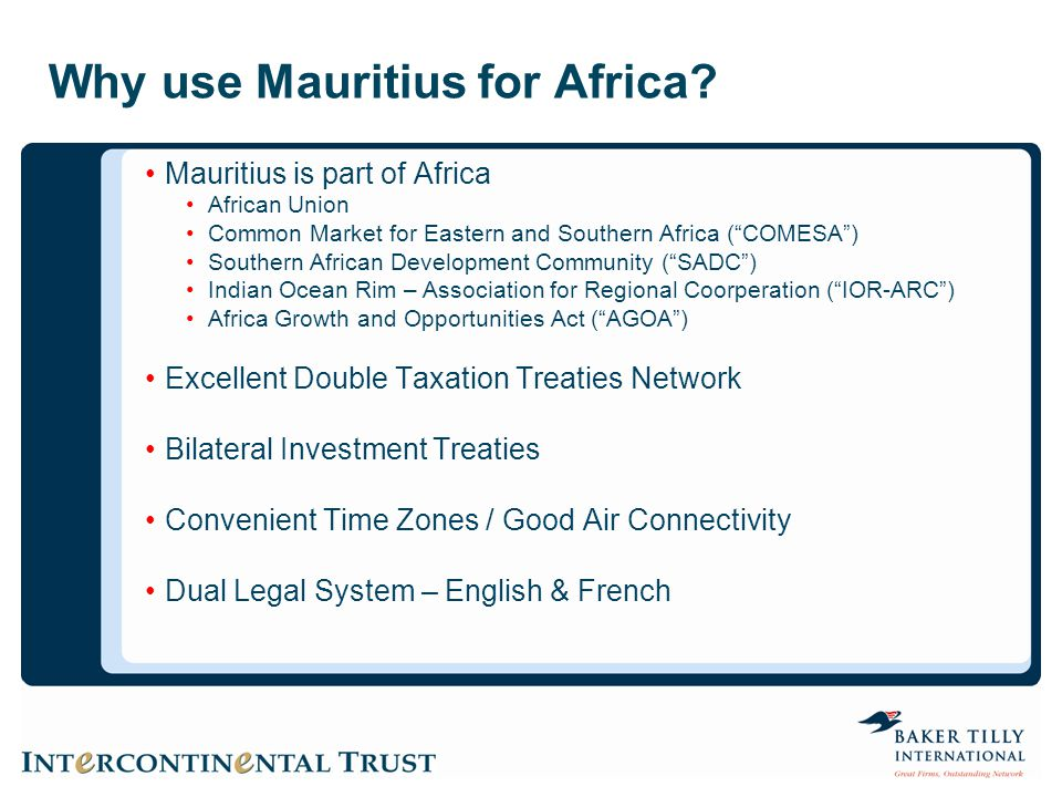 Why use Mauritius for Africa