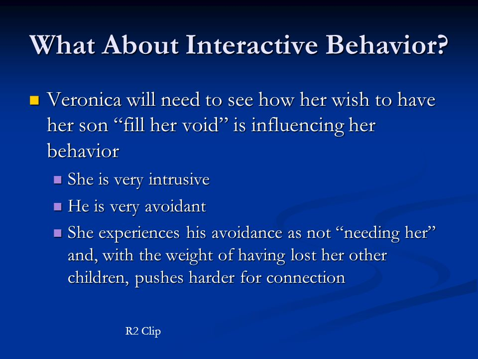 What About Interactive Behavior