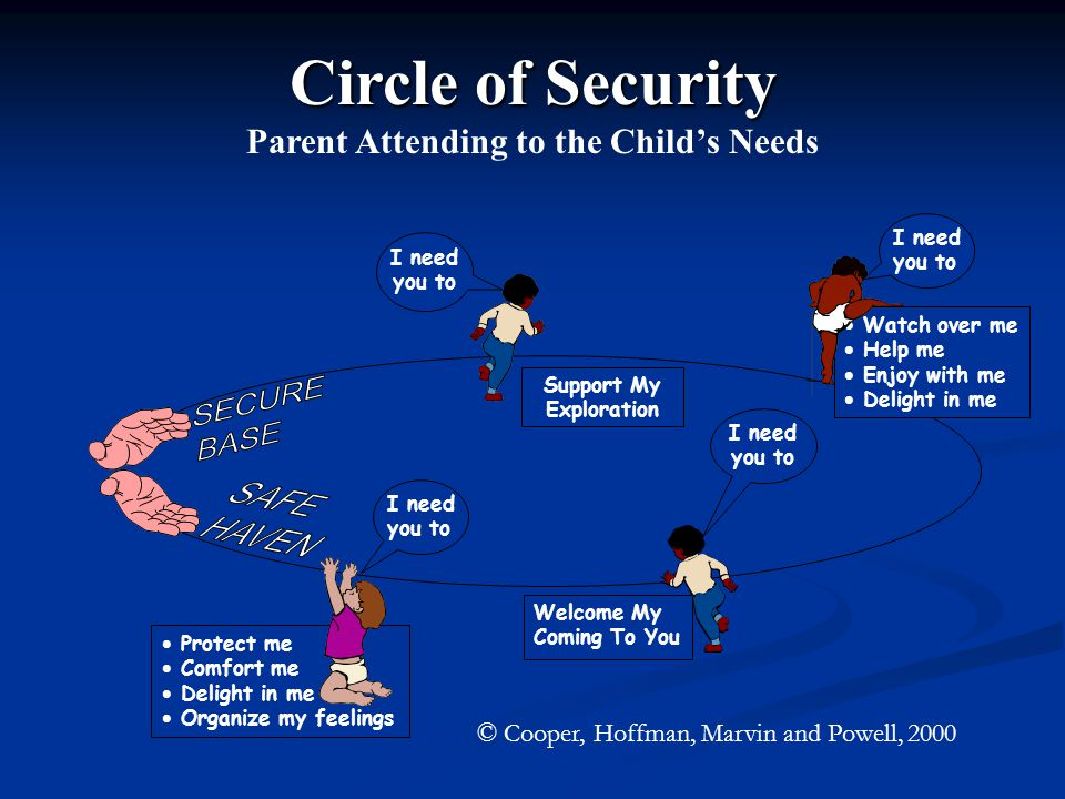 Parent Attending to the Child's Needs Support My Exploration