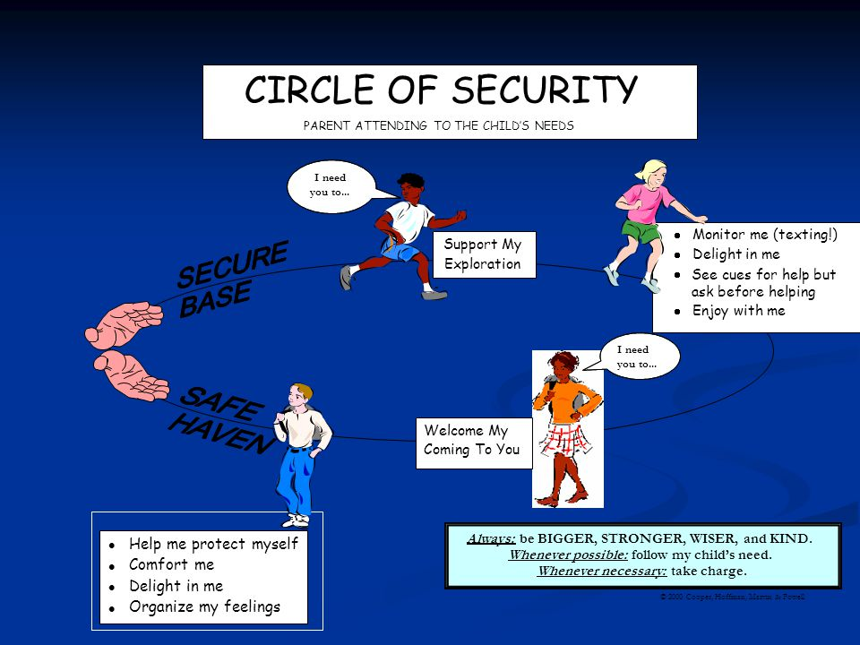 CIRCLE OF SECURITY · Help me protect myself Comfort me Delight in me